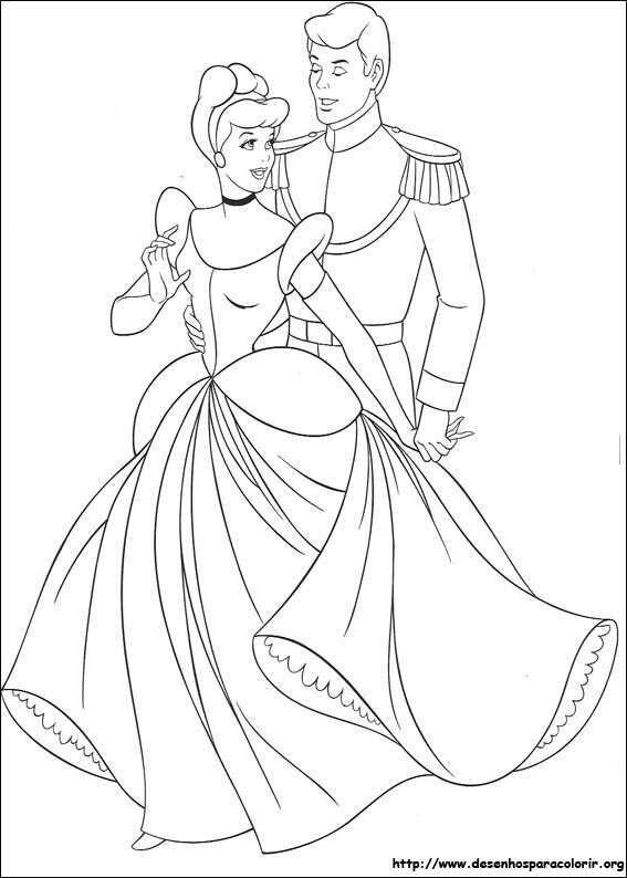 ESPAÇO EDUCAR: Desenhos da Cinderela para colorir, pintar, imprimir