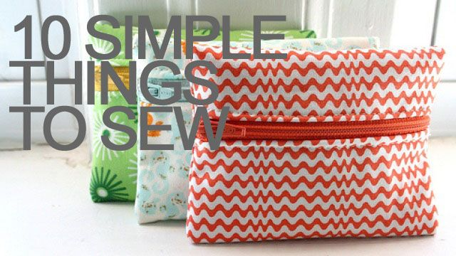 10 simple things to sew this weekend