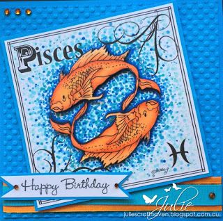 Pisces - Pattie's Creations Digital Stamps Julie's Craft Haven: August 2015