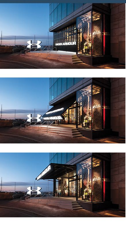 Under Armour Storefront Glass Door Project 14059