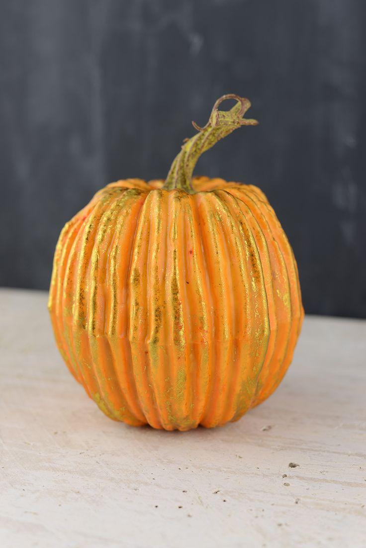 Artificial Pumpkin Orange 6x5in
