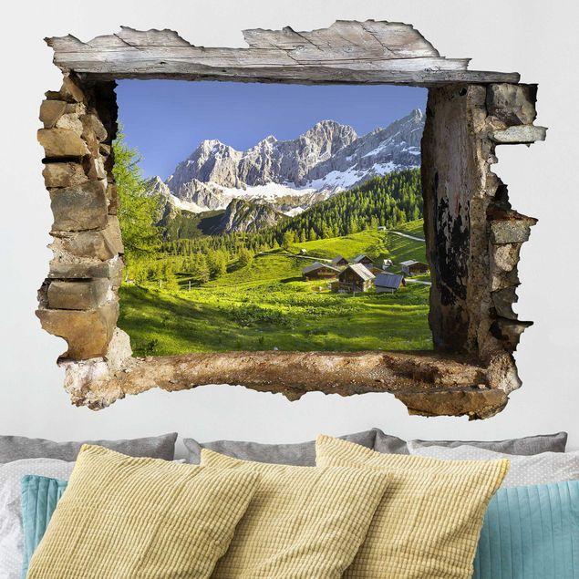Adesivo Murale 3d Styria Alpine Meadow Orizzontale 4 3 Paesaggi Adesivi Murali Adesivi