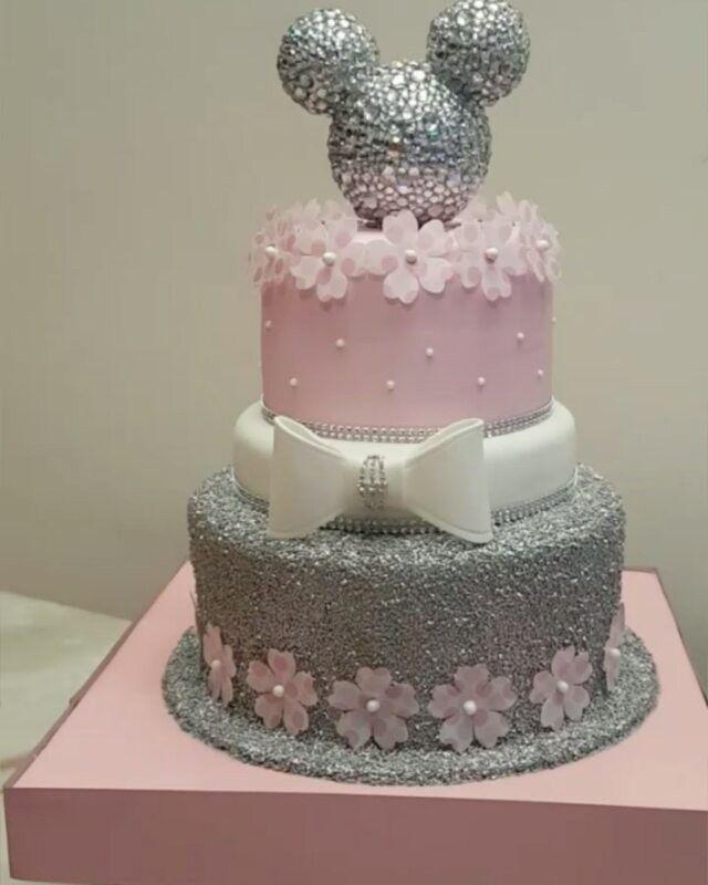 Rosa y Plata Torta Minnie / Pink & Silver Minnie Cake