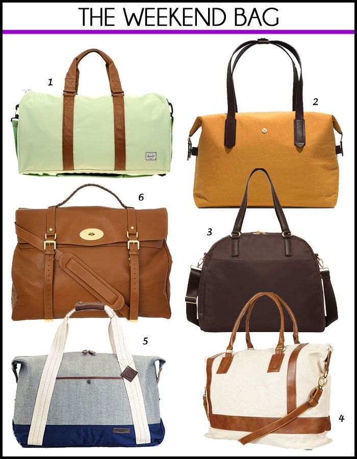 Weekend bags - Herschel Ravine holdall, Mismo MS Weekend, Lo & Sons The OMG, Topshop Woven Canvas Weekend Holdall, Rag & Bone Duffle Bag, Mulberry Postman's Lock leather travel bag