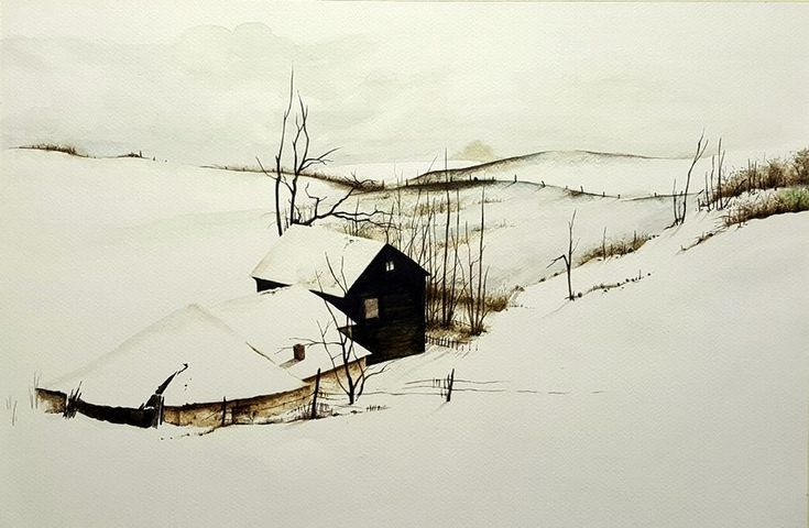 """""""Frosted"""", a water colour painting by a fine artist Bhanupratap Khare"""