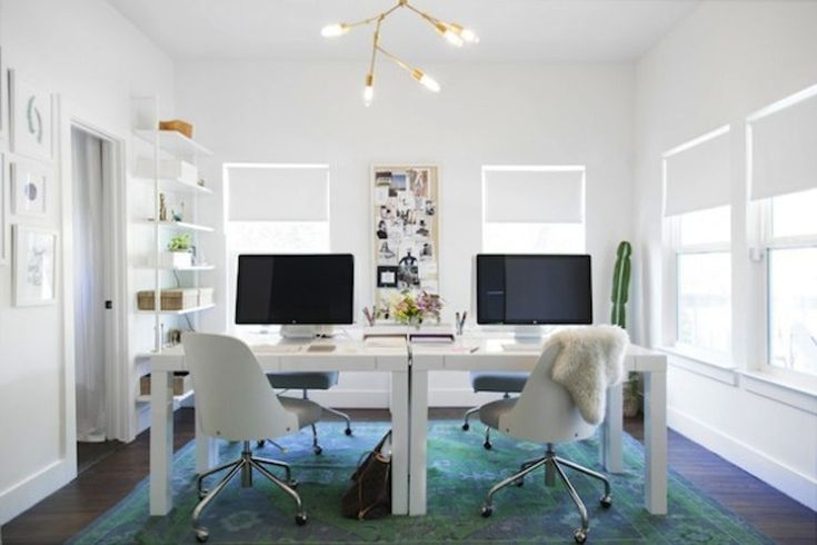 That rug: http://www.stylemepretty.com/living/2015/03/19/30-of-the-prettiest-offices-ever/