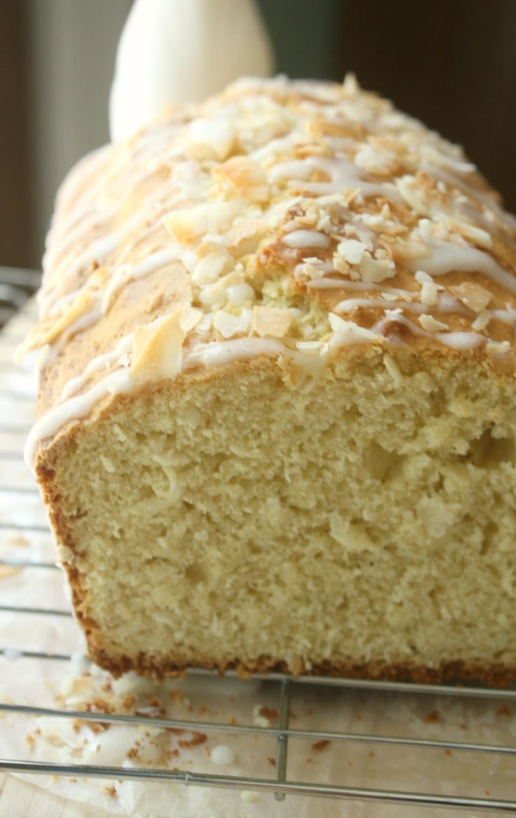 Coconut Almond Tea Cake. Serve with morning coffee or afternoon tea. A flavorful and sweet coconut bread.