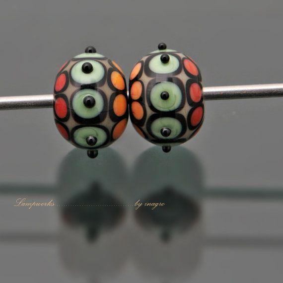 reserved listing for jill saguaro n2 set of 2 pcs handmade lampwork beads
