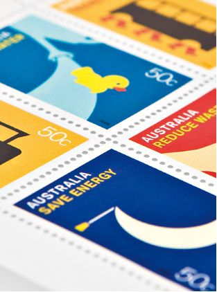 Australia Post Save Energy Stamps by Hoyne Design