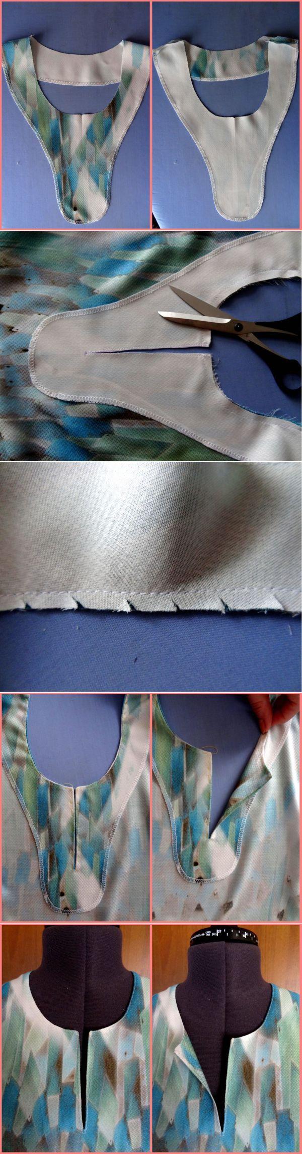 el tratamiento del cuello con un corte / BurdaStyle: talleres