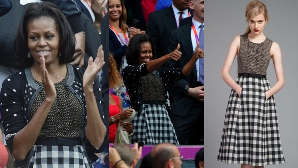 The Tracy Reese Dress Mobama Wore To The Olympics Is (Somehow!) Still In Stock
