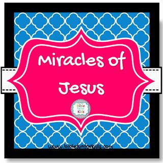 Miracles of #Jesus lesson, visuals & more #Biblefun
