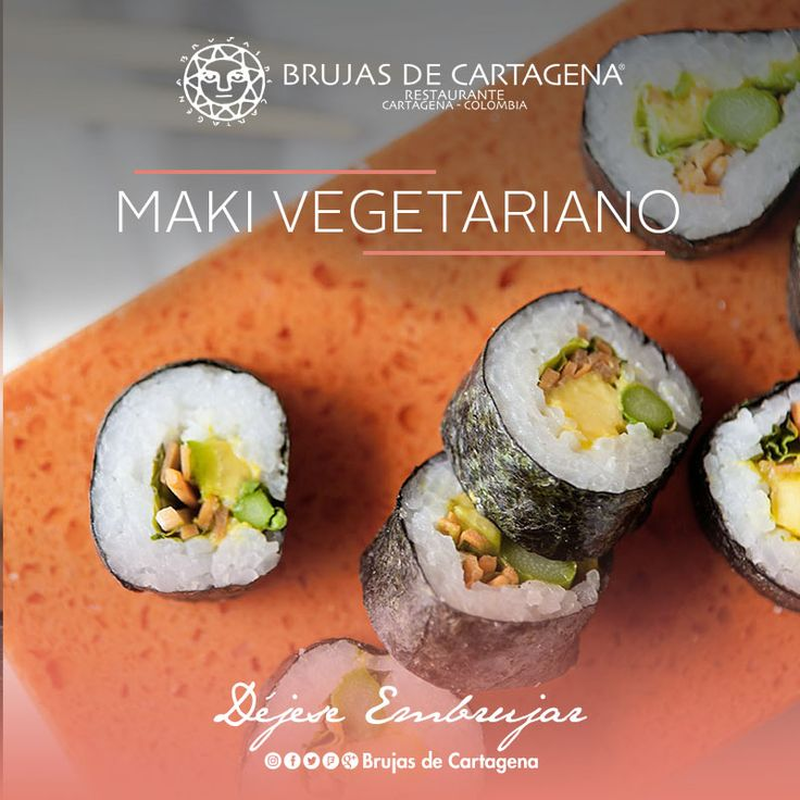 Maki Vegetariano Nikkei en Brujas de Cartagena  Cartagena, Colombia