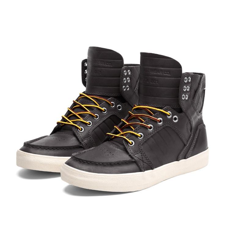 SUPRA SKYMOC Shoe   BLACK - CREAM   Official SUPRA Footwear Site