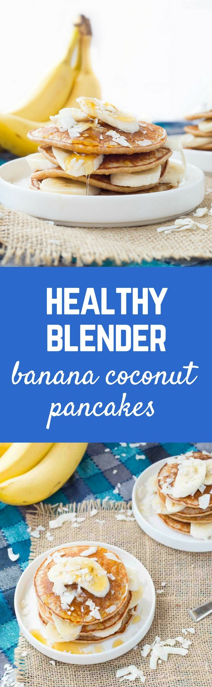 Pull our your blender and make these easy (AND HEALTHY!) banana coconut blender…