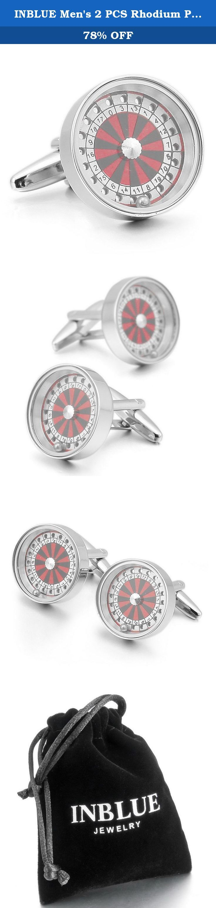 INBLUE Men's 2 PCS Rhodium Plated Cufflinks Silver Tone Roulette Wheel Shirt Wedding Business 1 Pair Set. INBLUE - High quality Jewelry Discover the INBLUE Collection of jewelry. The selection of high-quality jewelry featured in the INBLUE Collection offers Great values at affordable Price, they mainly made of high quality Stainless Steel, Tungsten, Silver and Leather. Find a special gift for a loved one or a beautiful piece that complements your personal style with jewelry from the…