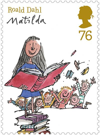 A new set of Royal Mail stamps featuring some of Roald Dah's most popular characters is just out from the Post Office as illustrated by Quentin Blake.
