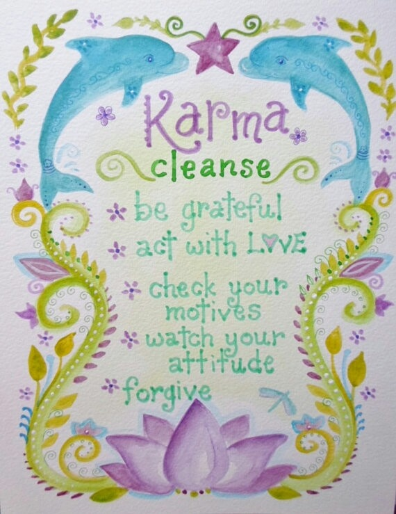 ∆ Intention...Karma Cleanse