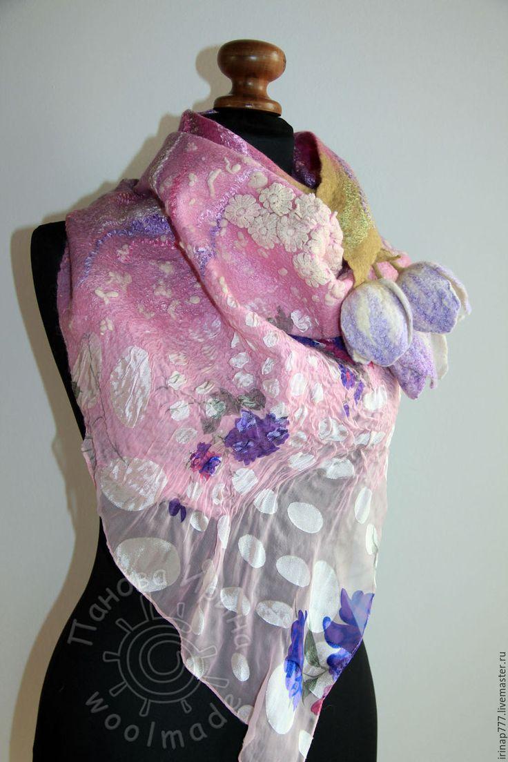 """Купить бактус """"Мишель"""" - розовый, сиреневый, розово-сиреневый, весна, весенние цветы, тюльпаны, бактус"""