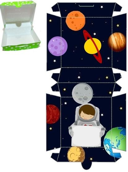 astronaut party printables - 413×553