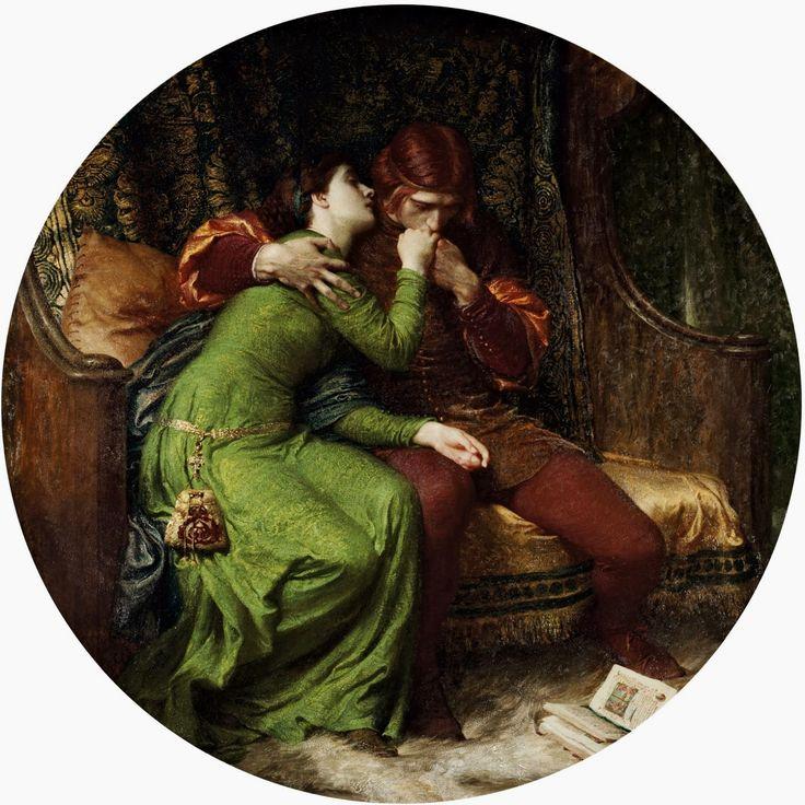 """Sir Francis Bernard Dicksee, """"Paolo and Francesca"""", oil on canvas, 1894."""