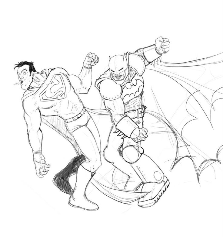 Batman Vs Superman Coloring Pages (With images)   Superman ...