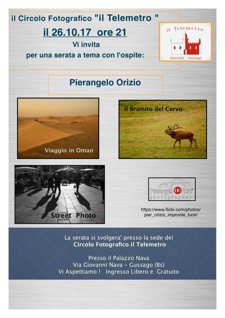 Il Telemetro: giovedì 26 ottobre serata a tema con ospite Pierangelo Orizio - http://www.gussagonews.it/telemetro-serata-tema-ospite-pierangelo-orizio-ottobre-2017/