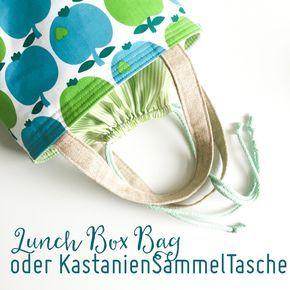 Neue Lunch Box Bag nähen oder die weltbeste Kastaniensammeltasche - Gewinnspiel von bygraziela ist auch noch dabei!