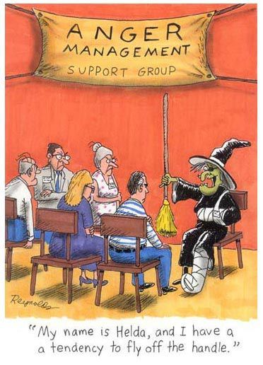 Funny cartoons - Halloween Anger Management // Posted on www.jokideo.com