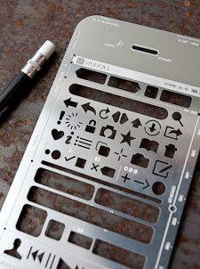 UX wireframing stencils