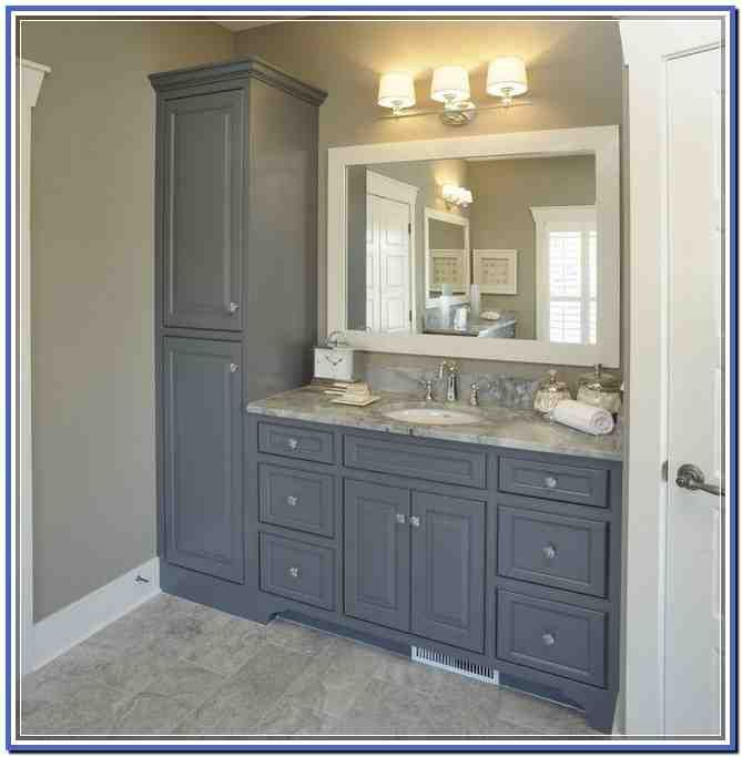 Simple Designer And Entertaining Guru, Bunny Williams, Designed This Attractive Vanity Tower To Keep Extra Tissue And Other Bath Essentials Organized And  So You Can Use The Railed Shelf Beneath As Open Storage Chalkboard Fronts Let You