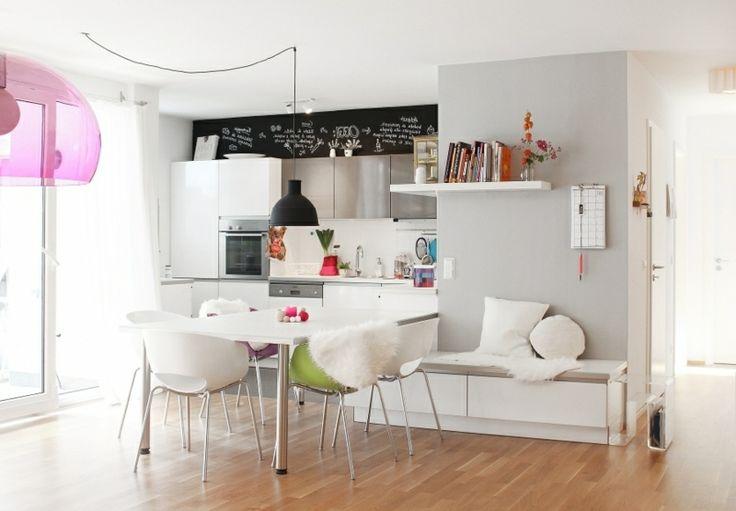 Wohnküche modern und praktisch gestaltet