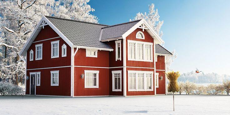 Kungshus Tjörn - hus i sekelskiftesstil - Anebyhusgruppen