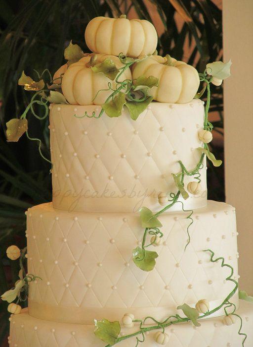 Image Detail For Pumpkin Fall Wedding Cake