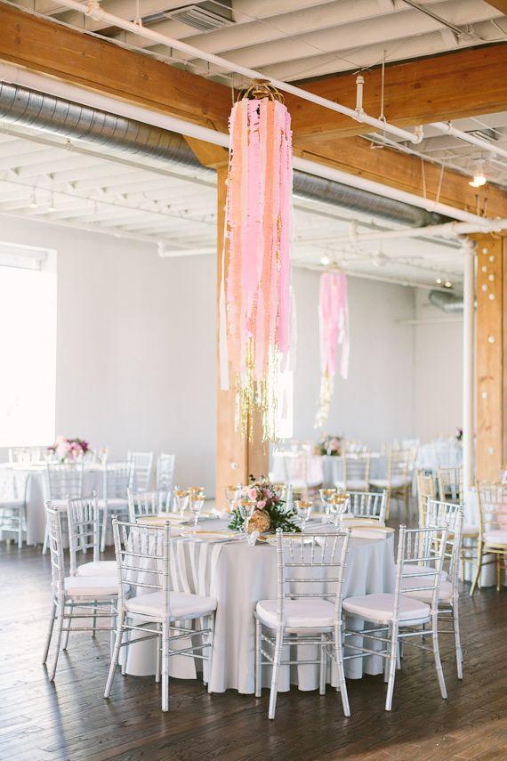 décoration originale table mariage
