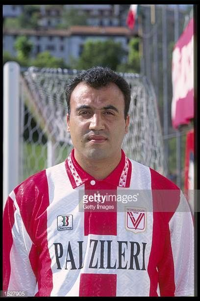 A portrait of Gustavo Mendez of Vicenza taken during the club photocall Mandatory Credit Allsport UK