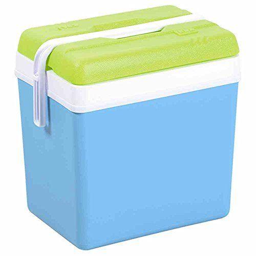 Ets Georges David S.A. Glacière Promotion, bleu/vert, 24L, 679962: Boîtes en plastique solide bleu turquoise/vert anis avec poignée de…