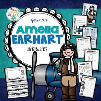 Amelia Earhart - Biography and Informational Report Pack                                                                                                                                                     More
