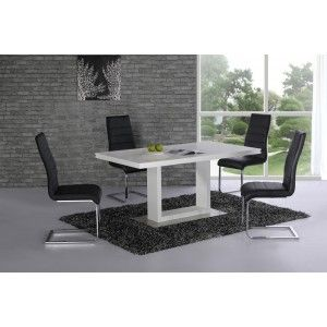 Space White High Gloss Dining Table - 160cm