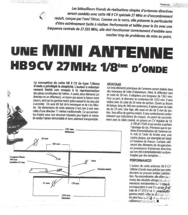 TECHNIQUE-RADIO-INFOS-DX-PARTAGE :: Mini HB9CV pour le 11 metres