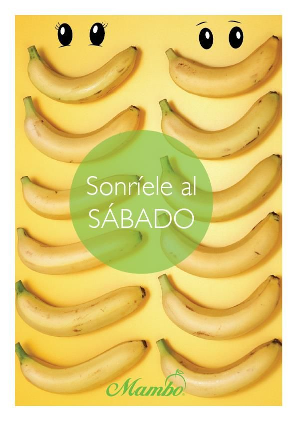 ¡Sonríele al sábado! Enjoy your saturday  www.mambo.com.co