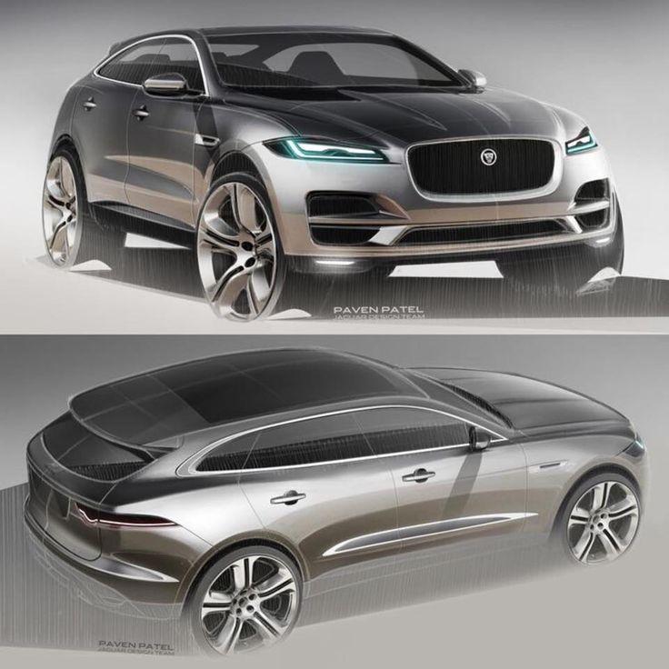 2015 IAA - Jaguar F-Pace production exterior design - Sketches by Paven Patel.