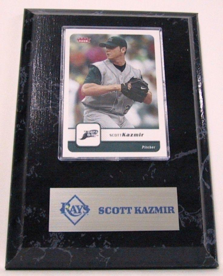 MLB Card Plaques - Tampa Bay Rays-Scott Kazmir