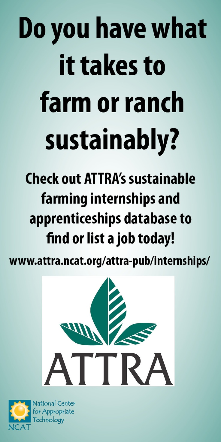 Great resource to find or list a sustainable farming internship!