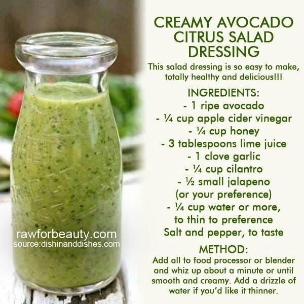 Avocado Lime Dressing - way too many ingredients, but sounds delicious.