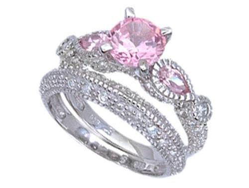 sapphires pink round unheated three white light alternative rings sapphire htm gold in diamond and stone ring with