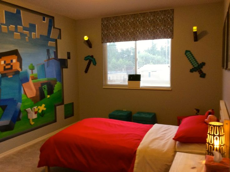 14 Best MINECRAFT MURAL THEMED BEDROOM Images On
