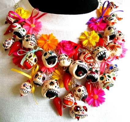 Day of The Dead Necklace by Leandra Holder