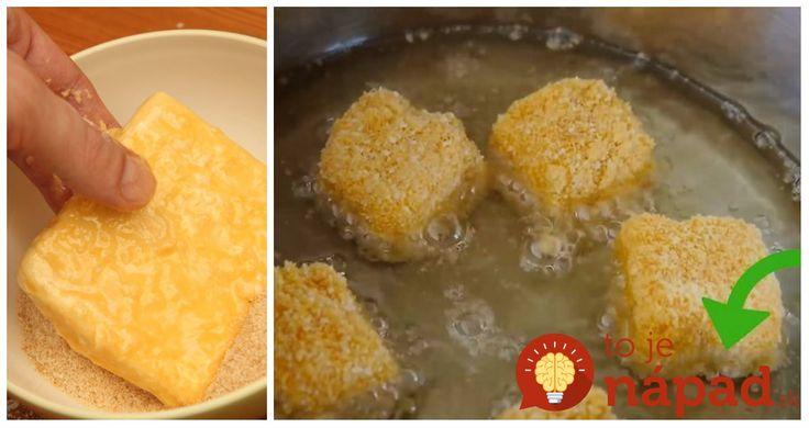 Vyprážaný syr si z času na čas dopraje každý z nás. Ako však docieliť, aby počas vyprážania syr nevytiekol na panvicu? Je to prekvapivo jednoduché.