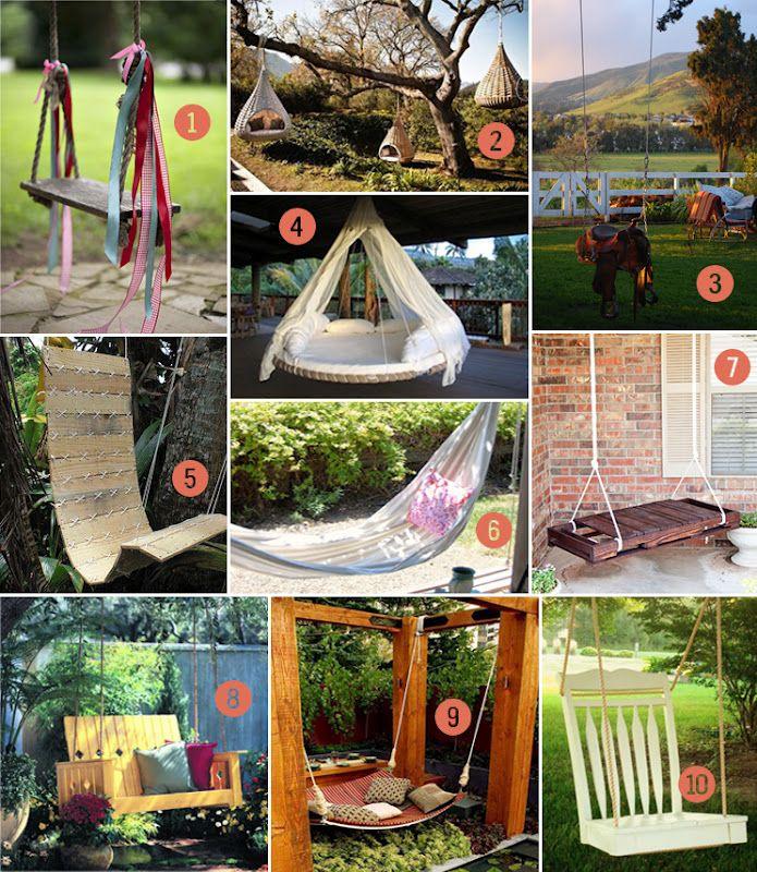 Backyard Swing roundup (most are DIY!)